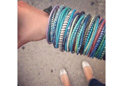 Tahoua Flipflop bracelets - set of 5