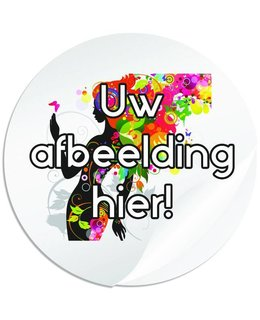 Ronde stickers 80 mm (8 cm) doorsnede