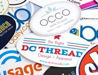 Ovale stickers bestellen? Laat hier uw ovale stickers maken.