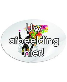 Ovale stickers 145 x 95 mm (14,5 x 9,5 cm)