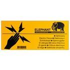 Elephant Waarschuwingsbordje voor schrikdraad afrastering