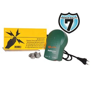 Gallagher Schrikdraad starterkit voor huisdieren inclusief Gallagher M10 schrikdraadapparaat en accessoires