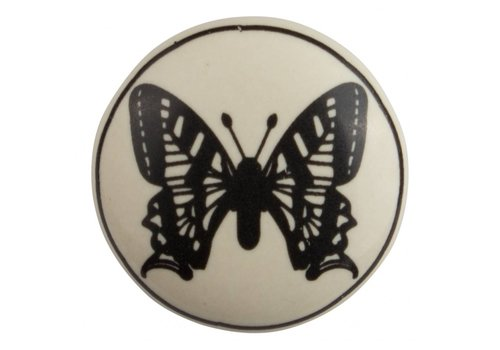 Keramik Möbelknopf Schmetterling