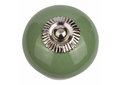 Keramik Möbelknopf grün