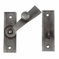 Schmiedeeisen Türriegel 65mm - Zinn-Effekt