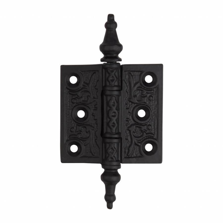 Gusseisen Scharnier 65 x 63mm - schwarz lackiert