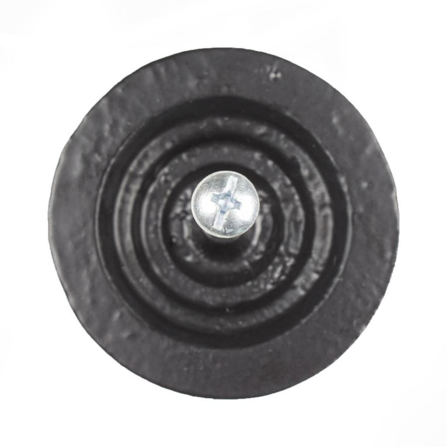 Gusseisen Möbelgriff rund - schwarz