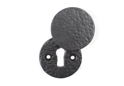 Schlüsselrosette mit Abdeckplatte - rund