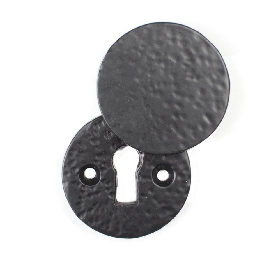 Gusseisen Schlüsselrosette mit Abdeckplatte - rund