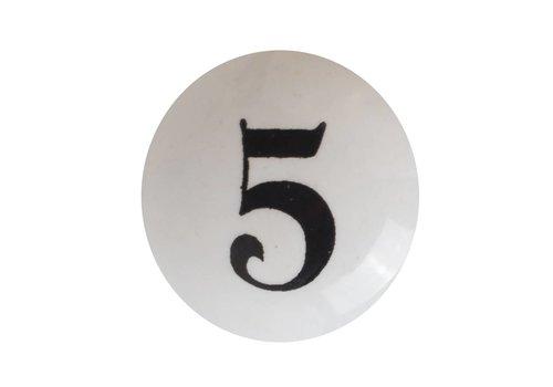 Keramik  Möbelknopf Nummer 5