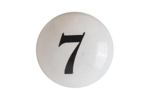 Keramik Möbelknopf Nummer 7