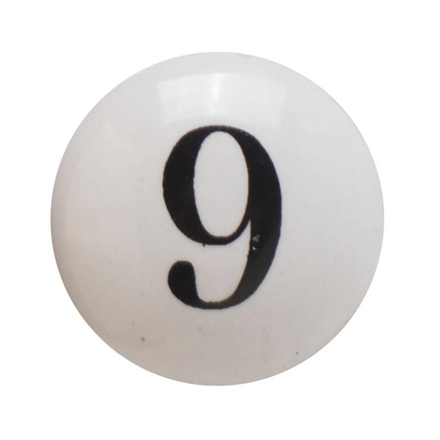 Porzellanknauf Nummer 9