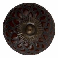 Porzellanknauf Relief - Schlange braun mit schwarz