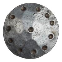 Schmiedeeisen Ziernagel rund 25 x 35mm - Zinn-Effekt