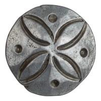 Schmiedeeisen Ziernagel Stern 25 x 35mm - Zinn-Effekt