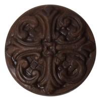 Gusseisen Möbelknopf Deko - Fleur-de-Lis - Rost