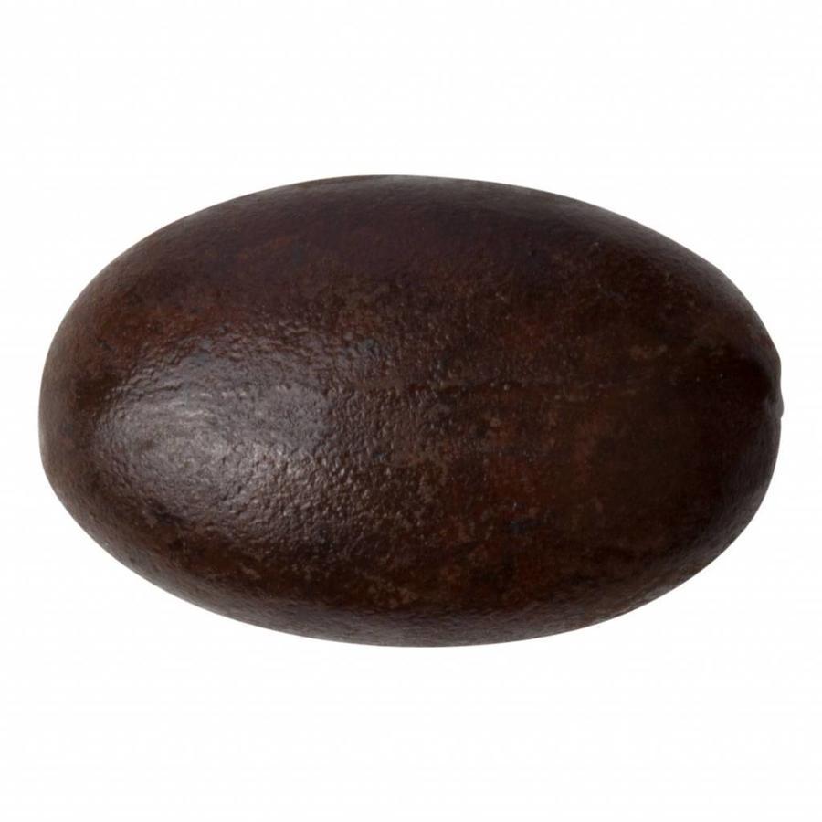Gusseisen Möbelknopf oval - 42mm - Rost