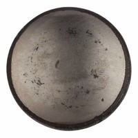 Gusseisen Möbelknopf 45mm - blank lackiert