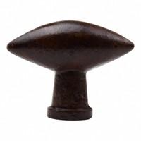 Gusseisen Möbelknopf oval - 40mm Rost