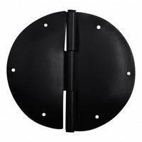 Möbelscharnier rund - schwarz Ø 84mm