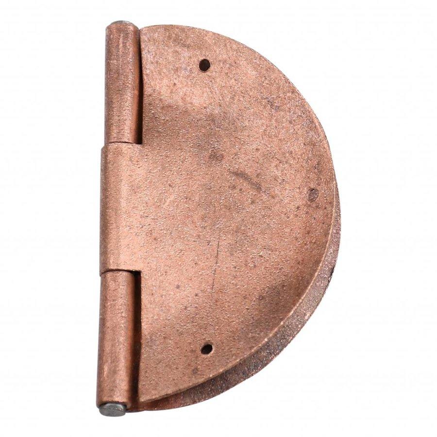 Möbelscharnier rund - Kupfer Ø 84mm