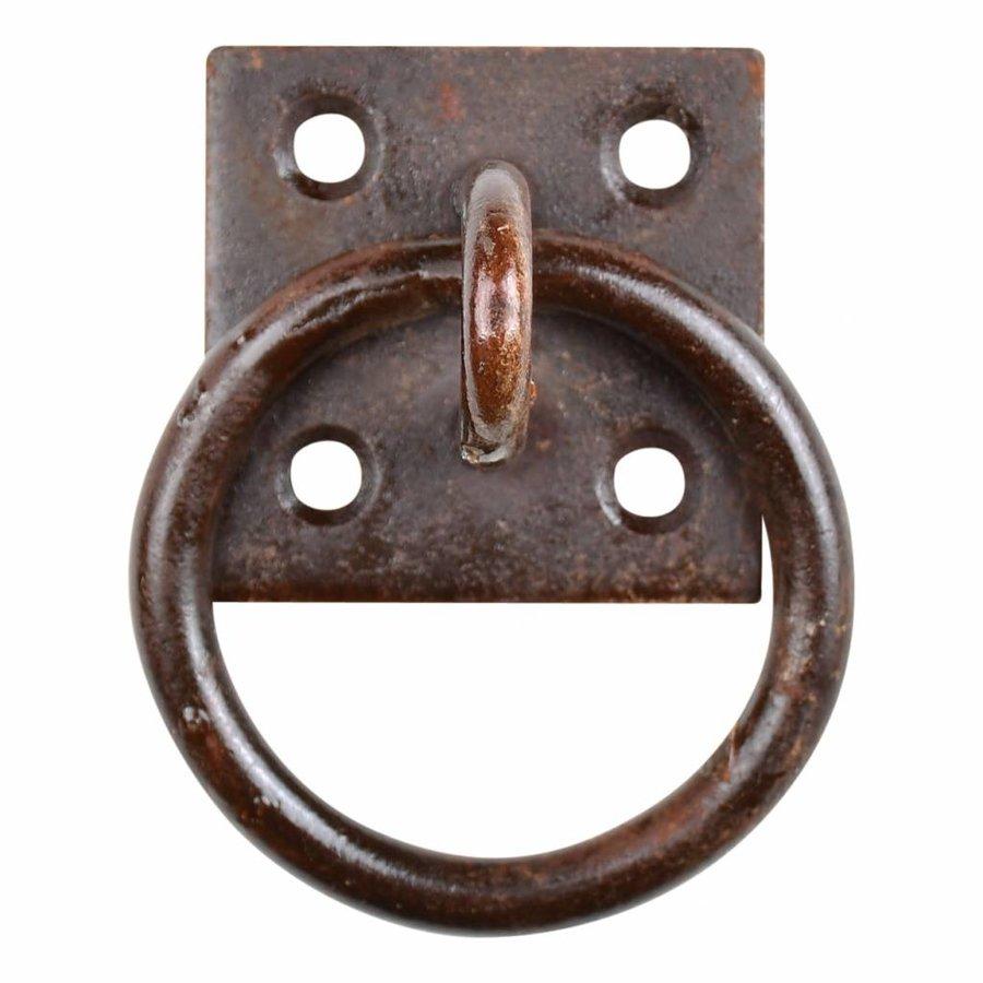 Augplatte mit Ring - Rost