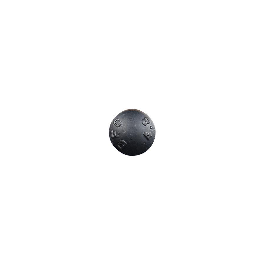 Schlossschraube mit Mutter - schwarz verzinkt