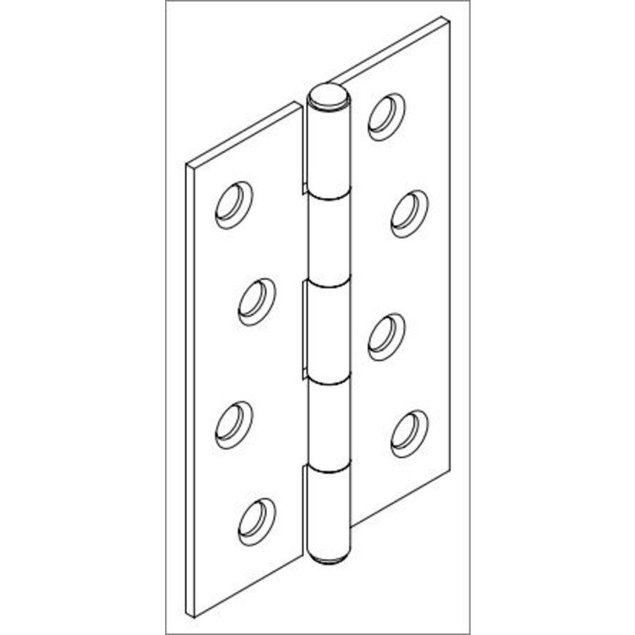 Gusseisen Möbelscharnier 102mm - schwarz