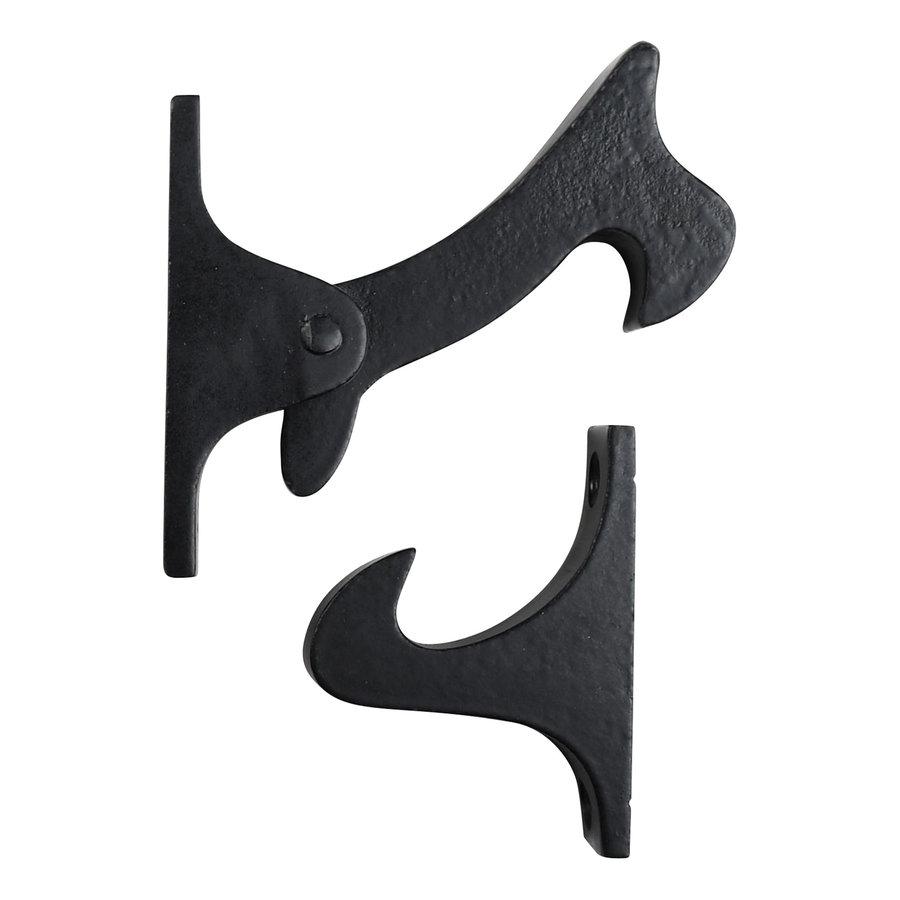 Gusseisen Torfeststeller - schwarz