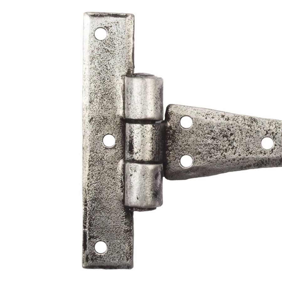 Schmiedeeisen Scharnier spitz 108mm - Zinn-Effekt