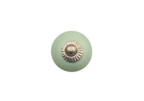 Keramik Möbelknopf grün - 30mm