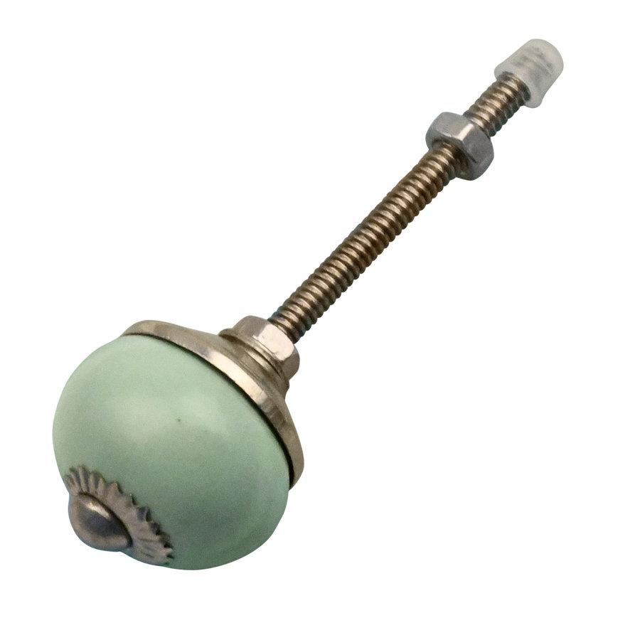 Porzellanknauf grün - 30mm