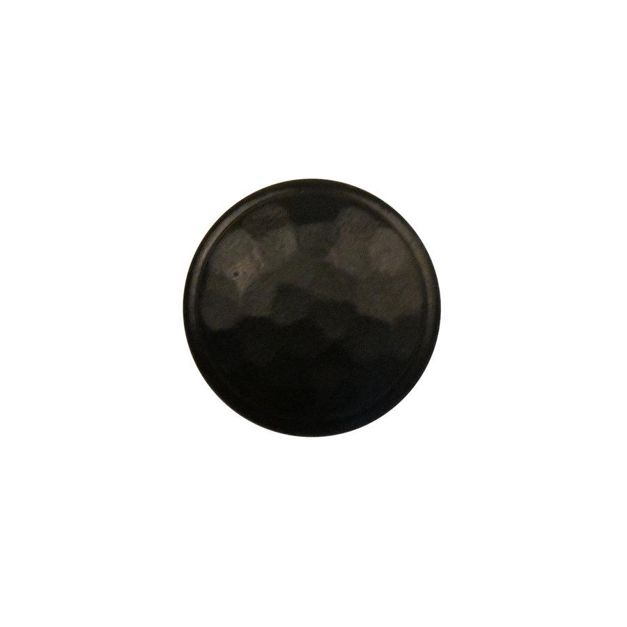Gusseisen Möbelknopf 36mm - Hammerschlag + schwarzer Lack