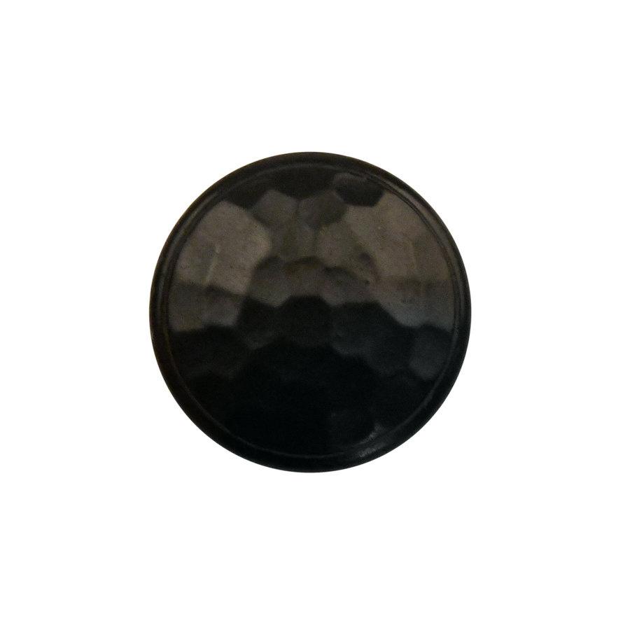 Gusseisen Möbelknopf 42mm - Hammerschlag + schwarzer Lack