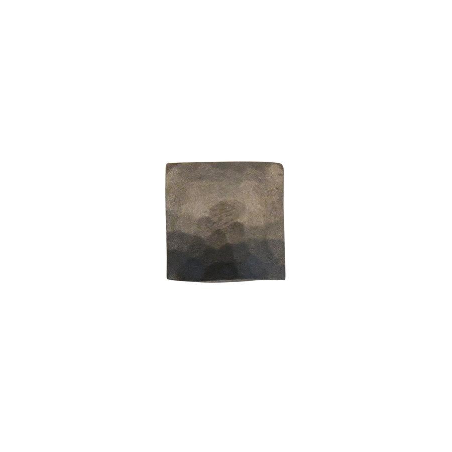Gusseisen Möbelknopf Viereck 25mm - Hammerschlag