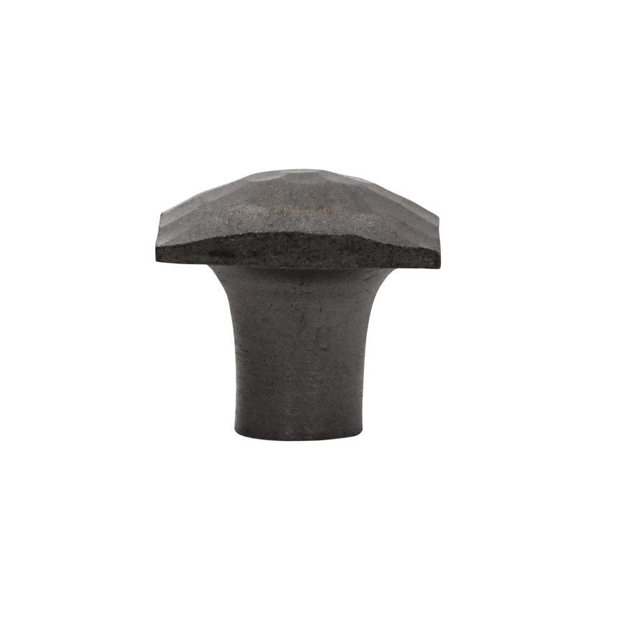 Gusseisen Möbelknopf Viereck 31mm - Hammerschlag
