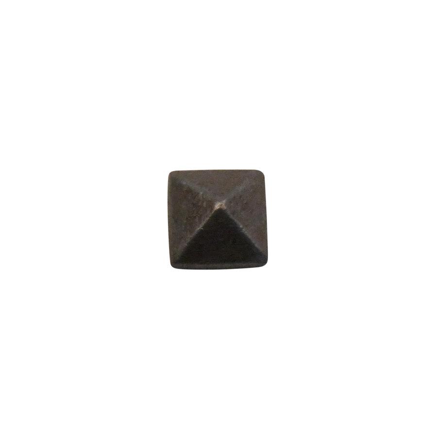 Schmiedeeisen Nagel 16 x 16 x 30mm - Pyramidenkopf Zinn-Effekt