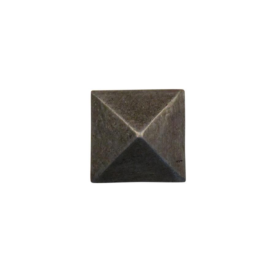 Schmiedeeisen Nagel 25 x 25 x 32mm - Pyramidenkopf Zinn-Effekt