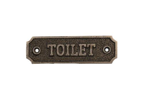 """Gusseisen Türschild """"Toilet"""""""