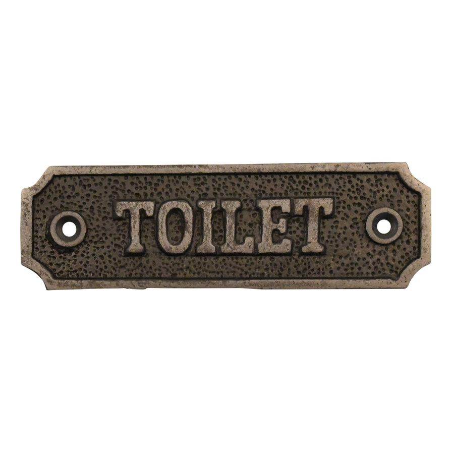 """Gusseisen Toilettenschild """"Toilet"""""""