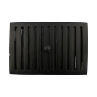 Gusseisen Lüftungsgitter 230 x 160mm - schwarz