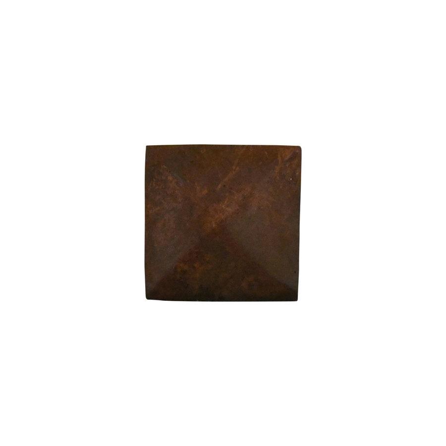 Gusseisen Möbelkauf viereckig - 36 x 36mm  Rost