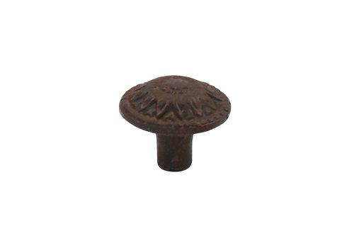 Gusseisen Möbelknopf Blume 38mm - Rost