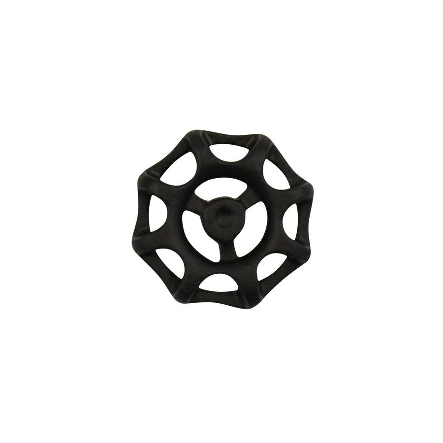Gusseisen Möbelgriff Ventil 48mm schwarz