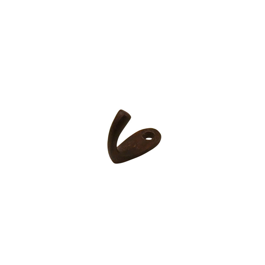Gusseisen Kleiderhaken oval - Rost