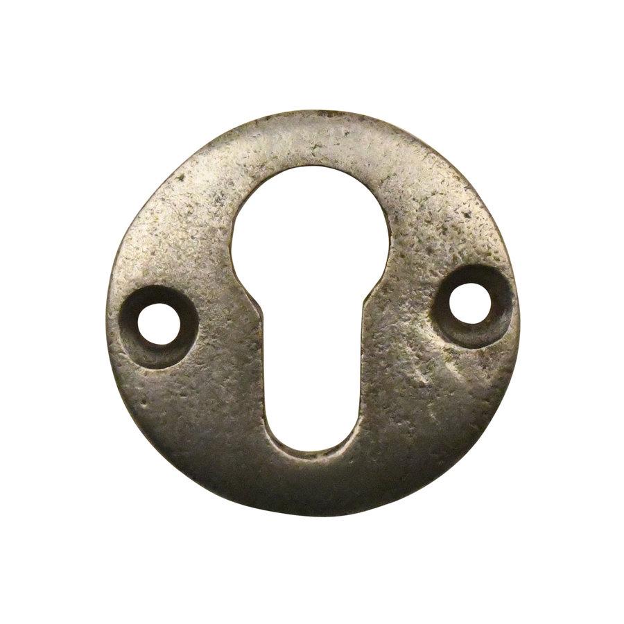 Gusseisen Schlüsselrosette PZ 50mm Zinn-Effekt