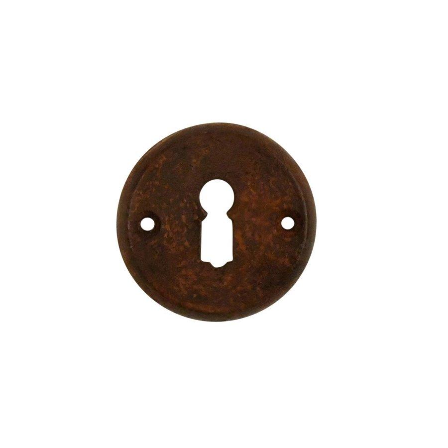 Gusseisen Schlüsselrosette BB 55mm - Rost