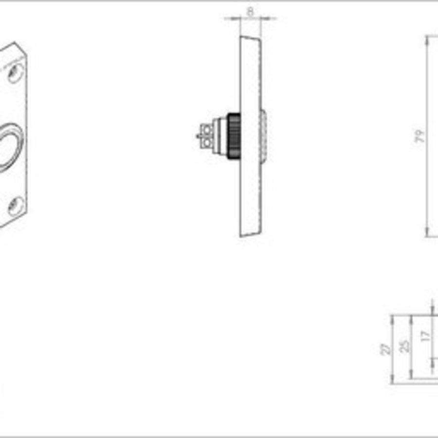 Klingeltaster rechteckig - Messing