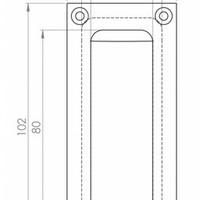 Einlassgriff rechteckig - Messing