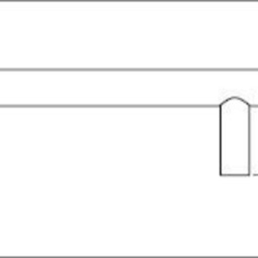 Möbelgriff T-Form - 220mm - rostfreier Stahl